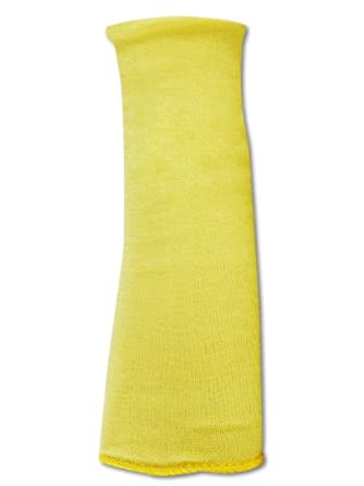 """Magid KEV10 CutMaster Kevlar Machine Knit Protective Sleeves, Yellow, 10"""" Length (Pack of 24 each)"""