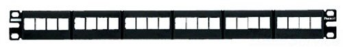 Panduit Nkfp24Y Category-6 24-Port Flat Modular Patch Panel, Black