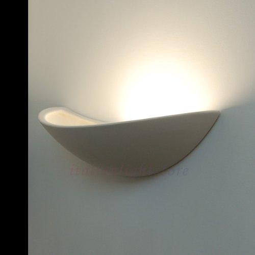 Virgola applique lampada moderna a parete decorabile in - Applique in gesso da parete ...