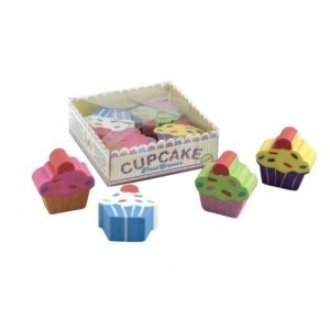 Cupcake Treat Erasers - Set Of 4