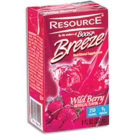 Nestle Resource Breeze Wild Berry, 8 Oz Brik Pak