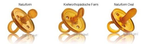 Goldi Sauger -- PROBIERPACK Größe 1-- Naturform, Oval, abgeschrägte Form -- Beruhigungssauger Schnuller