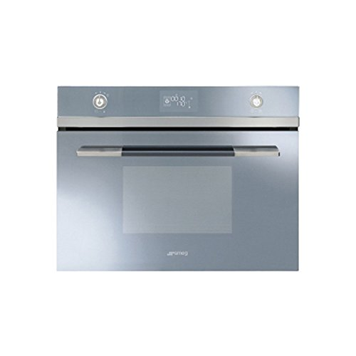 Smeg Linea SF4120VCS Built In Oven Compact Combination Steam Silver Glass