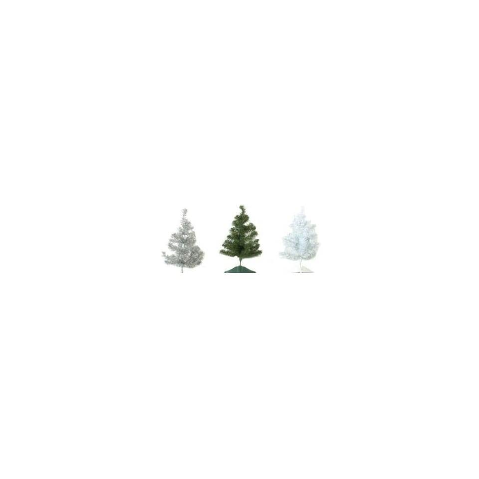 16 Christmas Tree   Green/White/Silver W/Stand Case Pack 96