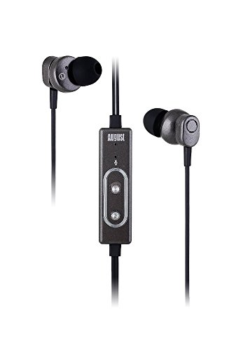 August EP715 - Active Noise Cancelling Earphones - Hands-free Calling with Integrated Microphone