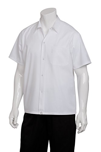 Chef Works SHYK-WHT White Utility Cook Shirt, Size M (Chefs Work Shirt compare prices)