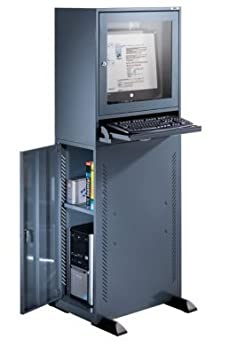 QUIPO Armoire pour ordinateur - modèle standard gris bleu - armoire informatique armoire pour ordinateur armoires informatiques armoires pour ordinateur meubles informatiques mobilier informatique poste de travail informatique postes informatiques
