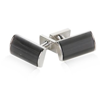 Shimmering 4 piece Fiber Optic Gray Silver Cuff Links by Cuff-Daddy