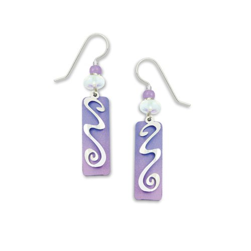 Adajio By Sienna Sky Lavender Silver Overlay Column Earrings 7002