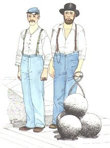 1851-1876 Federal Issue Trousers Pattern
