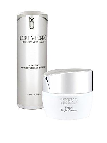 L'Reve 60 Second Instant Lifting Serum & Pearl Night Cream Duo