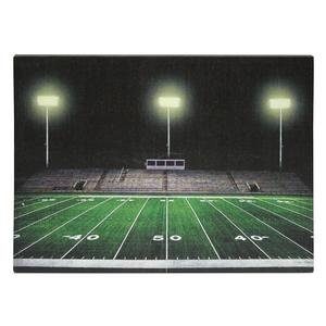 "Ohio Wholesale 38976 - 20"" X 14"" X 1"" - ""Football Field"" Battery Operated Led Lighted Canvas (Batteries Not Included)"