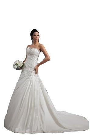 Winey BridalR Taffeta A Line Bling Ivory Garden Cheap Wedding Dresses