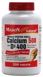 buy Mason Natural Oyster Shell Calcium 500 Mg Tablets With Vitamin D3 - 250 Ea