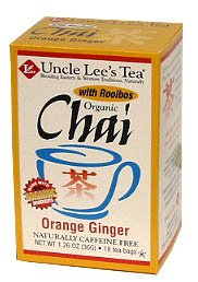 Organic Orange Ginger Chai-18 Bags Brand: Uncle Lees Tea