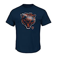NFL Chicago Bears Men's UVC Tee, Navy, Large