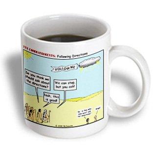 Rich Diesslins Funny Ten Commandments Cartoons - Ten Commandments, Following Directions - 11Oz Mug (Mug_2566_1)