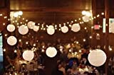 E-Joy® Set of 10 Warm White Chinese Lantern String Lights for Patio 10.86ft Long (1)