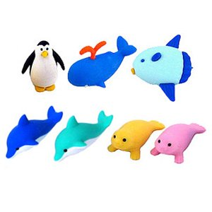 Marine Animal Erasers 7Pc