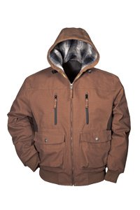 Mens Walls 35646 EnDuro Insulated Hooded Jacket Chestnut Medium
