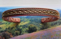 Men's Solid Copper 8 Inch Magnetic Cuff Bracelet #017