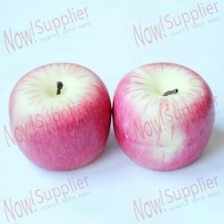 NowAdvisor Red Apple Shaped Candle Gift for Birthday/Wedding (2 PCS)