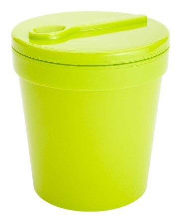 Zak Designs 1-Pint Insulated Ice-Cream Tubbie with Freezable Gel Lid (Kiwi)