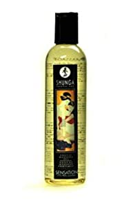 Shunga Massage Oil, Sensation Lavender, 8-Ounce Bottle