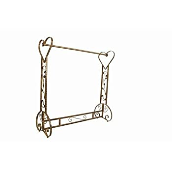 Brand New Free Standing Decorative Antique Bronze Iron Garment Coat Rack (Y020C)