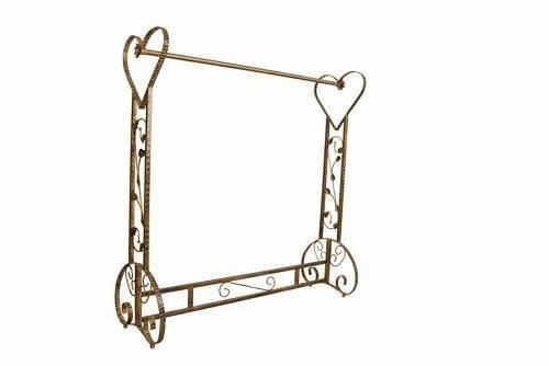 Brand New Free Standing Decorative Antique Bronze Iron Garment Coat Rack (Y020C) 0