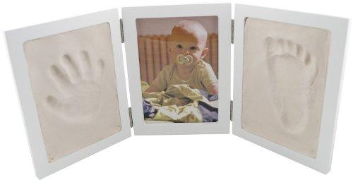 Bieco 641727 - Set completo con portafotografie e due riquadri per le impronte delle manine o dei piedini