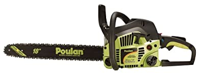 Poulan P4018 18-Inch 40cc 2-Cycle Gas-Powered Easy Start Chain Saw with Case