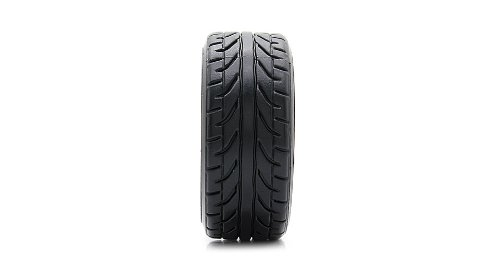 9031-9015 Rubber + Plastic Drift Tyres For 1:10 Scale R/C Racing Car (4-Pack)-9031-9015, 63*26Mm, 4-Pack, Black - (Premium Quality)