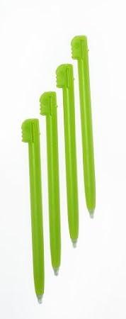 Gator Crunch Lime Green Color Stylus Pen Set for Nintendo DS Lite (4 pack) - Bulk Packaging