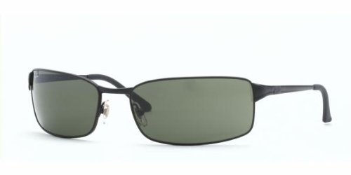 39c3acc5ac29 Ray-Ban RB 3269 Sunglasses, Matte Black Frame / Crystal Green Lenses,  RB3269-006-63