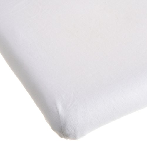 Carters Easy Fit Jersey Cradle Fitted Sheet, White (Discontinued by Manufacturer)