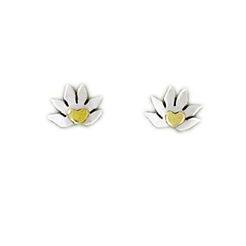 Far Fetched Sterling Silver Lotus Post Earrings