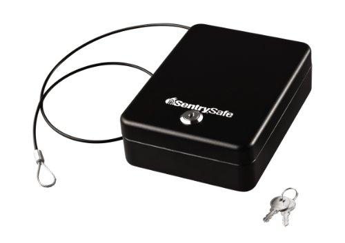 Sentrysafe P005K 0.05 Cubic Foot Compact Safe, Black