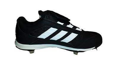 adidas Diamond King Low Mens Baseball Cleats (Black White) 10 by adidas
