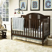 Baby Relax Kinley 4-In-1 Fixed-Side Convertible Crib, Espresso