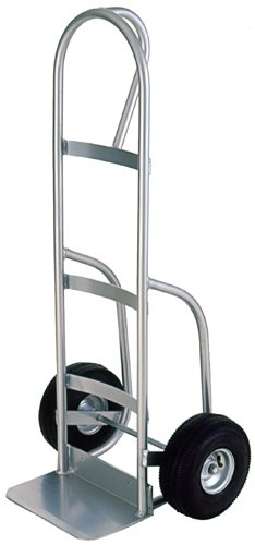 Milwaukee Hand Trucks 49262 Welded Aluminum P-Handle Truck With 10-Inch Pneumatic Tires front-525445