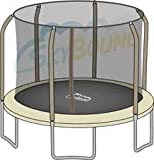 Net for 14ft Trampoline Enclosure using 6 Poles and Sleeves