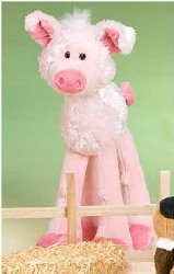 "Lanky Legs Stuffed Pig 13"" for Infants & Children Washable Plush"
