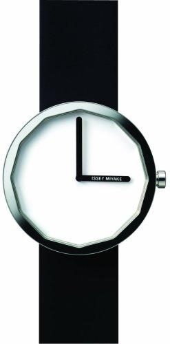Issey Miyake 371LAP001 - Reloj unisex de cuarzo, correa de piel color negro