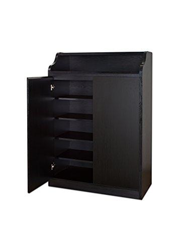 ioHOMES Kallie Storage Cabinet, Black (Deep Storage Cabinet compare prices)