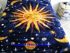 Korean Style Queen Blanket Sun and Moon