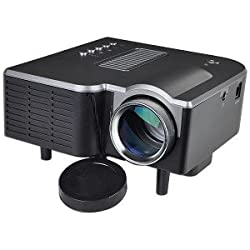 Mini AV LED Digital Projector w/USB, SD Card Slot & Speaker - Enjoy Custom Viewing with a 17