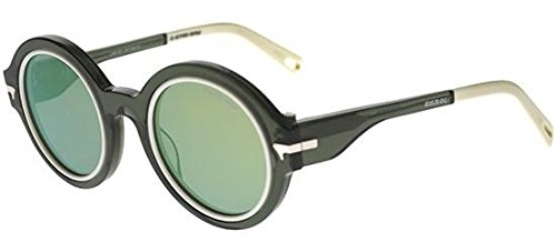 G-Star Raw - BIG BOOLER WILTON BY EVA SHAW GS653S , Rotondo, acetato, donna, TRANSPARENT DARK GREEN/GREEN BLUE MIRROR(041), 47/24/140
