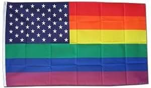 Rainbow / USA - 3' x 5' Polyester Flag
