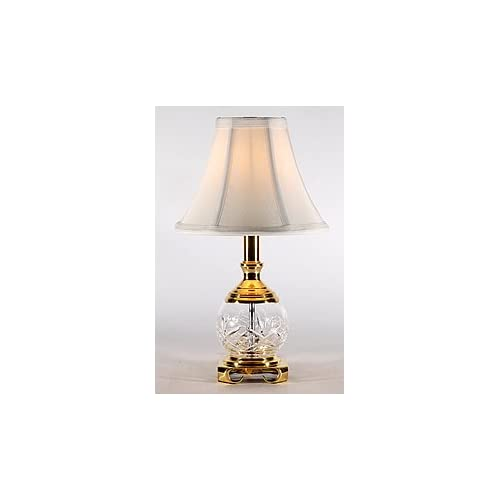 small traditional crystal brass accent table lamp. Black Bedroom Furniture Sets. Home Design Ideas